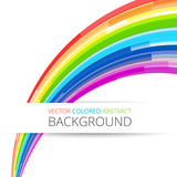 Fototapety Art rainbow abstract vector background
