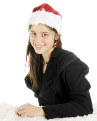 Pretty Christmas Preteen
