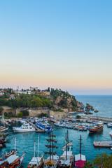 The marina of Antalya old city