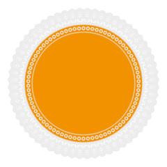 Ornament Serviette Ajour gelb