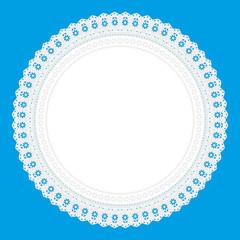 Ornament Serviette Ajour Hintergrund hellblau