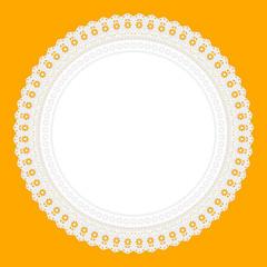 Ornament Serviette Ajour Hintergrund gelb
