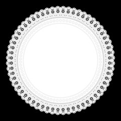 Ornament Serviette Ajour Hintergrund schwarz