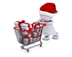Morph Man with shopping basket