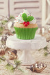 canvas print picture - Christmas cup cake