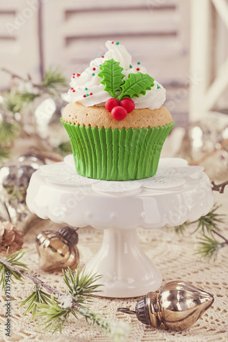 canvas print picture Christmas cup cake