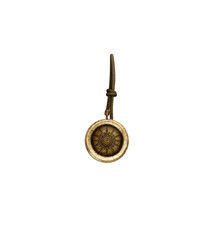 Antique gold compass with latin inscriptions