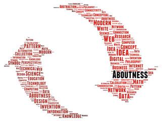 Aboutness word cloud shape