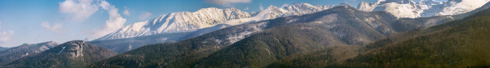 Tatra mountain panaromaic landscape