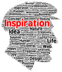 Inspiration word cloud shape