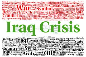 Iraq crisis word cloud shape