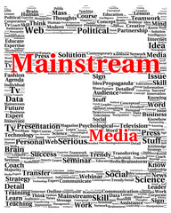 Mainstream media word cloud shape