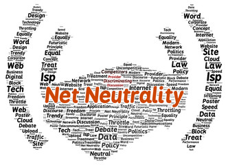 Net neutrality word cloud shape