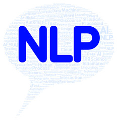 NLP word cloud shape