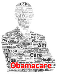 Obamacare word cloud shape