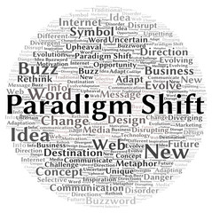 Paradigm shift word cloud shape