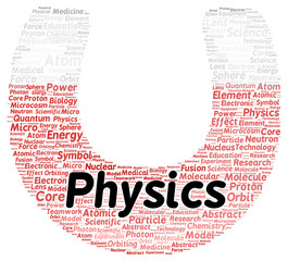 Physics word cloud shape