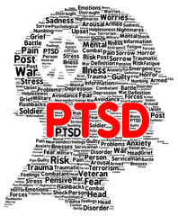 PTSD word cloud shape