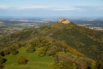 Blick auf die Burg Hohenzollern / Schwäbische Alb