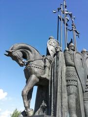 Monument in Pskov Alexander Nevsky