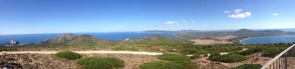 alghero coast panorama, sardinia, italu