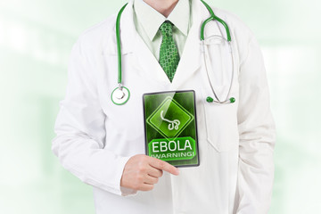 Doctor warning against ebola