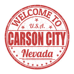 Welcome to Carson City stamp