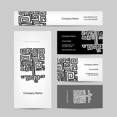 Ethnic ornamental tree, business cards design