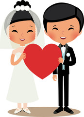 Chinese couple bride and groom