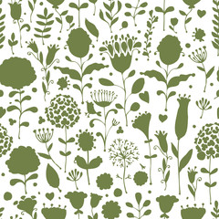 Floral pattern sketch for your design