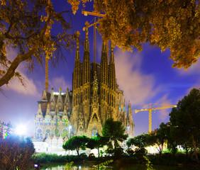 Sagrada Familia in twilight. Barcelona