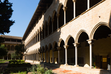 courtyard of Pedralbes Monastery at Barcelona