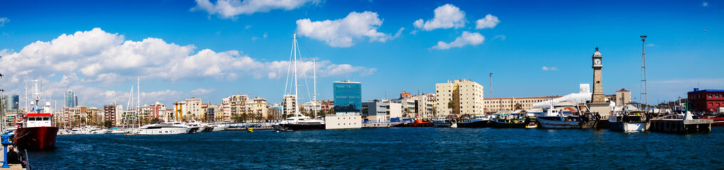 Panorama of Port Vell