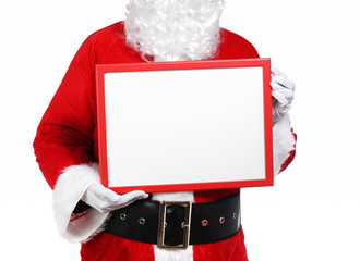 Santa Claus holding a array
