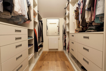 Big wardrobe in new house