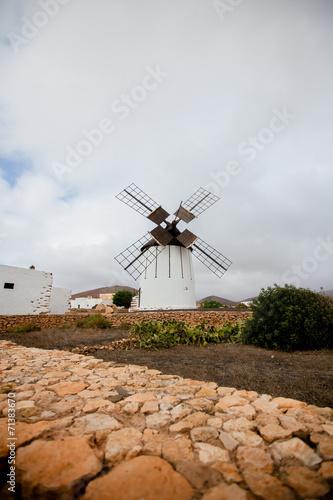 canvas print picture windmühle