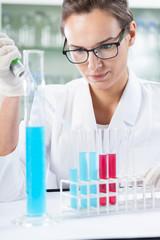 Chemist doing experiment