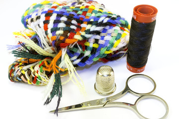 Sewing tools. Color image