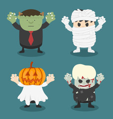 illustration of Halloween,front set 2