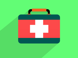 First aid kit ,Flat design style