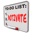canvas print picture - Motivate Word Dry Erase Board To Do List Encourage Inspire