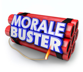 Morale Buster Dynamite Bomb Bad Motivation Discouragement