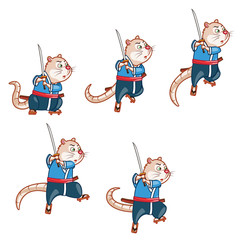 Samurai Mouse Jump Sprite