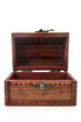 canvas print picture - vintage wooden treasure chest toy