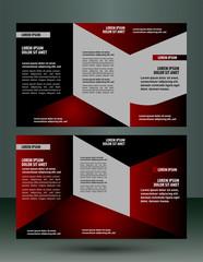 Brochure design layout templatevector