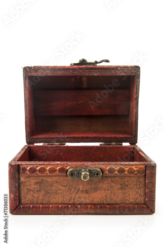 canvas print picture vintage wooden treasure chest toy