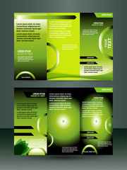 Three fold business brochure template, corporate flyer