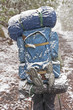 Backpacker in a Snowstorm
