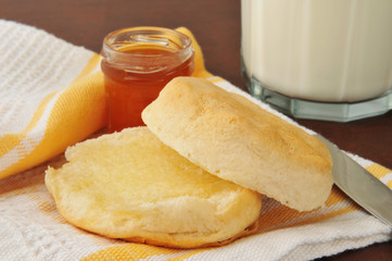 Hot buttered biscuit