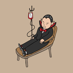 Vampire blood transfusion cartoon